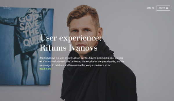 Ritums on Voog user experience