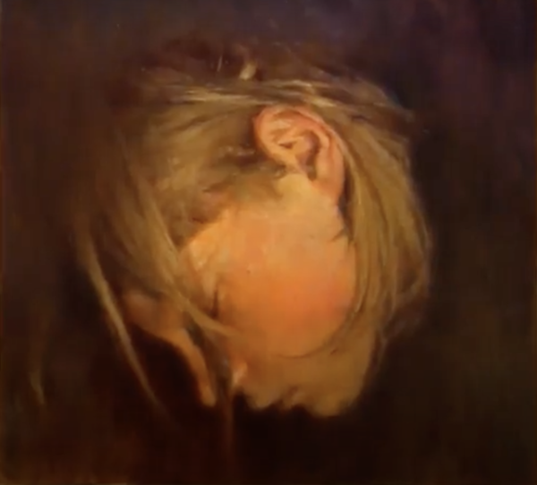 Ritums Ivanovs oil painting of his son Rasmus (sleeping) has won the Silver Prize of Cesis Art Prize 2020