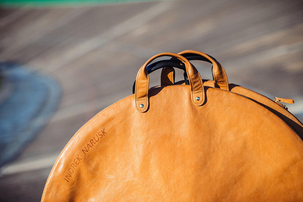 Indrek Narusk leather bicycle hubs bags made by Stella Soomlais