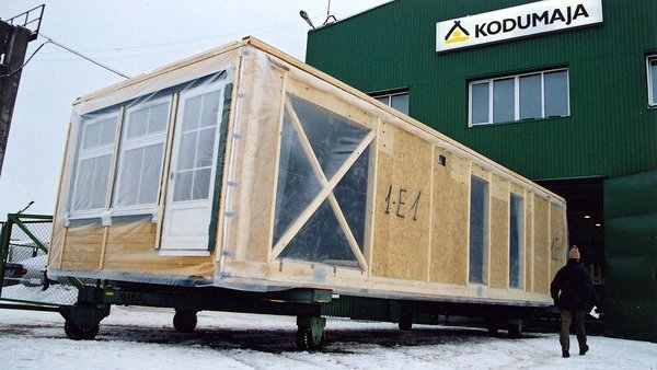 Module ready for shipping - Photo: http://www.kodumaja.ee