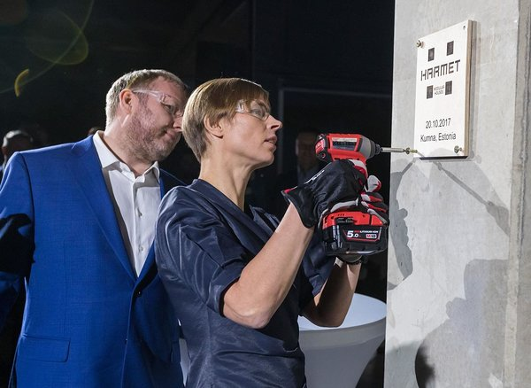 The President of Estonia, Kersti Kaljulaid opened a new pre-fab house factory in Kumna. Photo by Mihkel Maripuu