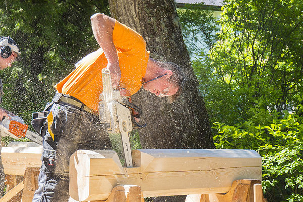 Vocational competition of Estonian log house builders 2018. Photo by:  Nogata Design
