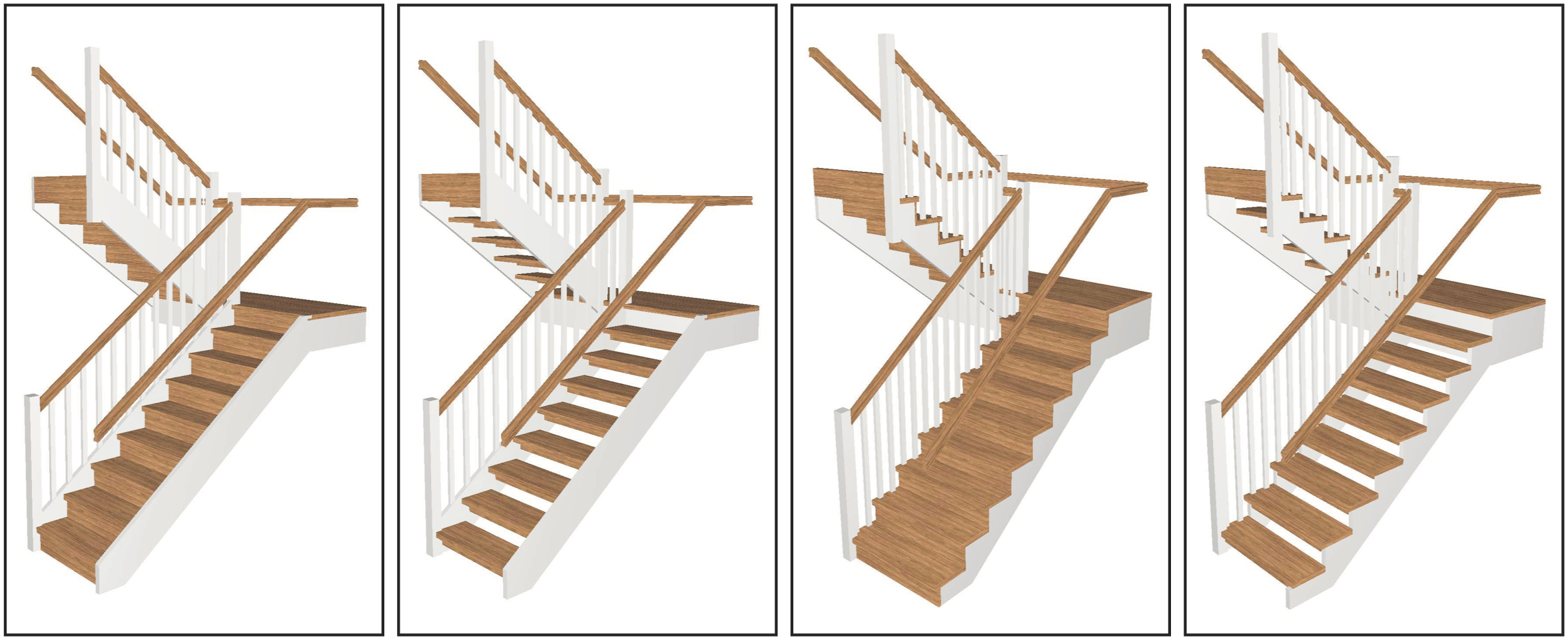 Half Turn Stairs With Landing (U Shaped Stairs)