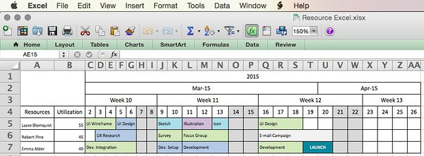 microsoft excel schedule