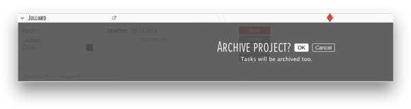 ganttic archiving projects
