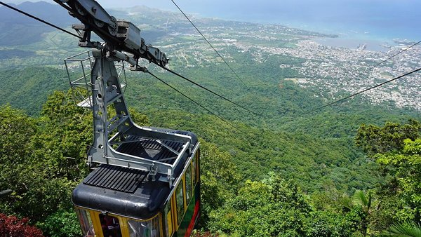 Take the cable car to the top of Isabel de Torres mountain on the Puerto Plata city tour