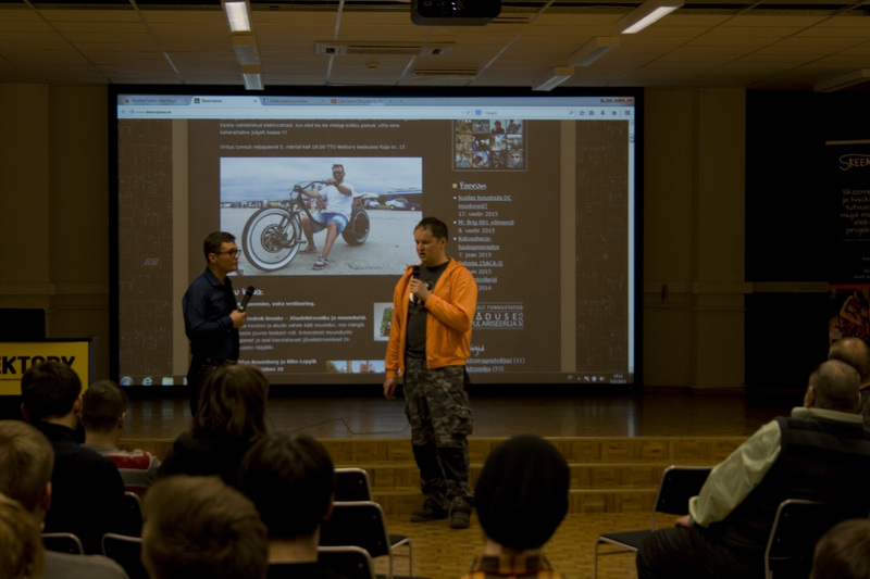 Electric bikes chatroom in 05.03.2015 at Mektory's.