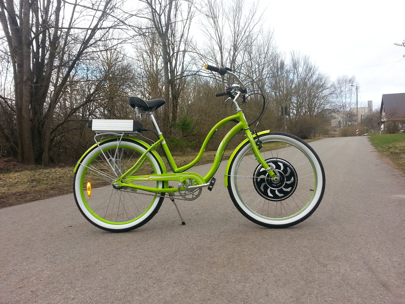 Schwinn Fiesta, motor Magic pie 3, battery 48v 10 Ah LiFePo4.