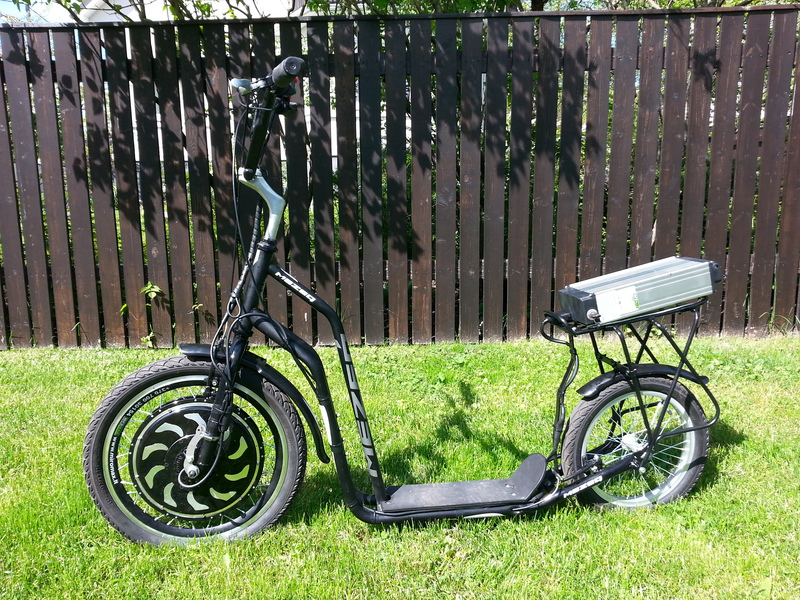 Rixbikes first electric kickbike, Magic pie 3 1000w motor, LiFePo4  48v 10Ah battery.