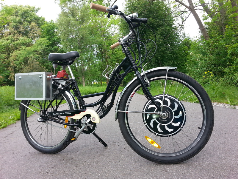 Schwinn Cruiser Magic pie 3, Lyen 9 Fet controller, battery 48V 20 Ah LiFePo4.