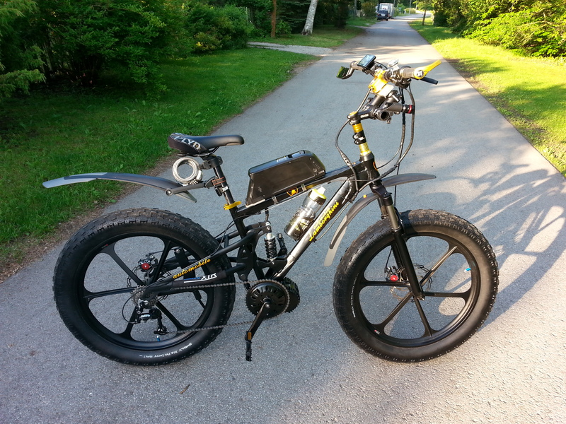 """Lamborghini"" Fatbike with Bafang 48 V 1000 W kit."