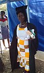 Afriyie graduating as a Midwife!