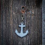 ANCHOR. Light marled grey with tan leather K2 fastening.
