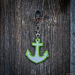 ANCHOR. Light green with black leather K2 fastening.