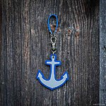 ANCHOR. Blue with blue textile ribbon K2 fastening.