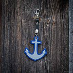 ANCHOR. Blue with black leather K1 fastening.