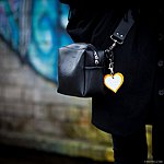 HEART. Yellow with blakc leather K2 fastening.