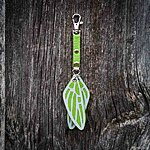 Dragonfly. Light green with light green  textile K1 clasp fastening.