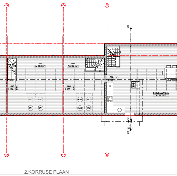 II korruse plaan