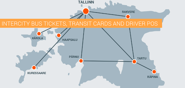 Intercity bus tickets, transit cards and driver POS