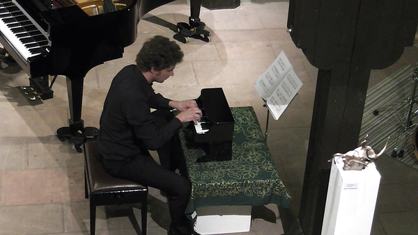 performing John Cage: Suite for Toy Piano; Theodor Zink Museum Kaiserslautern