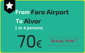Private transfers Faro Airport to (and from) Alvor