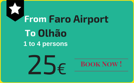 Private transfers Faro Airport to (and from) Olhão