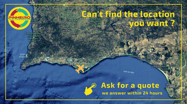 Ask for a quote Private Airport transfer to/from Faro airport t- Algarve Central area