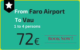 Private transfers Faro Airport to (and from) Praia do Vau