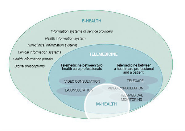 Figure 1. The field of e-health. Source: PRAXIS 2014, Study on the implementation of telemedicine in Estonia.
