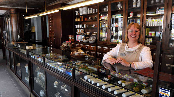 History & food break at Old Town Hall Pharmacy