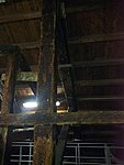Hundreds of years old wooden beams