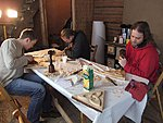 Wood carving workshop in Finland