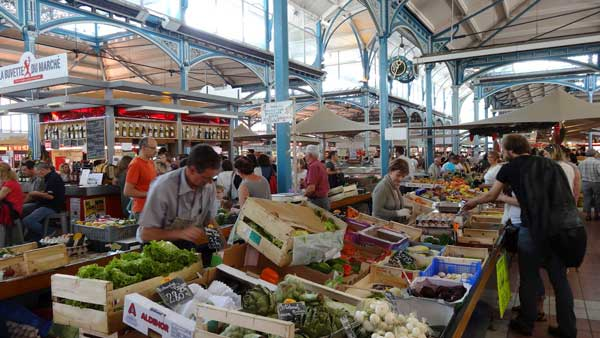 The fabulous food market in Dijon