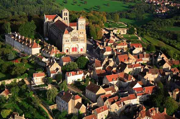 Visit the village of Vézelay and see the famous abbey