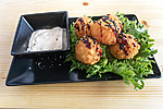 #023 CRAB NUGGETS / CRABMEAT BALLS, CUCUMBER-MAYO SAUCE  / 4.20€