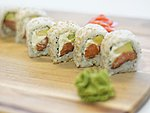 #16 PHILADELPHIA / CREAM CHEESE, AVOCADO, SALMON, SESAME SEEDS / 7.20€