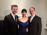 Greg, Elizabeth and Lauri  after the duo's recital