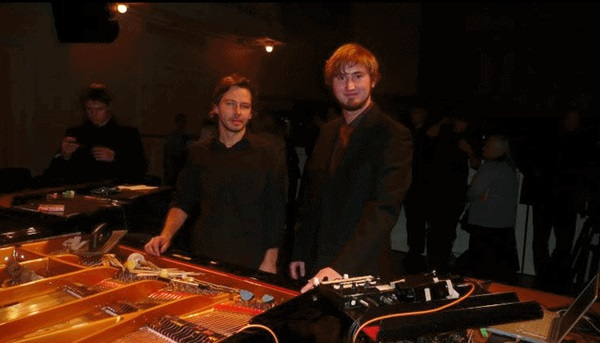 Taavi Kerikmäe and Tammo Sumera after their highly successful live-electronic piano concert