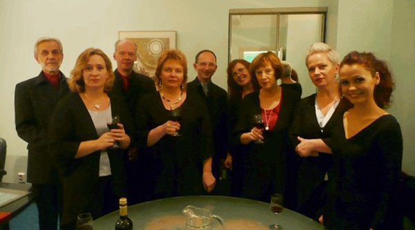 Estonain Piano Orchestra after the concert
