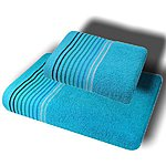 Towel set (2 pieces), measures 50*90 cm and 70*140 cm, material 100% cotton. Price 15.50 EUR.