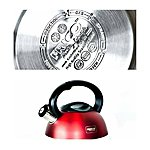 FRICO quality stainless steel kettles whistle. 2,7L in different colours,  red. Price 13.60 EUR
