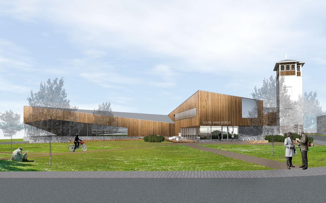 Suure-Jaani külastuskeskuse arhitektuurivõistlus, II preemia