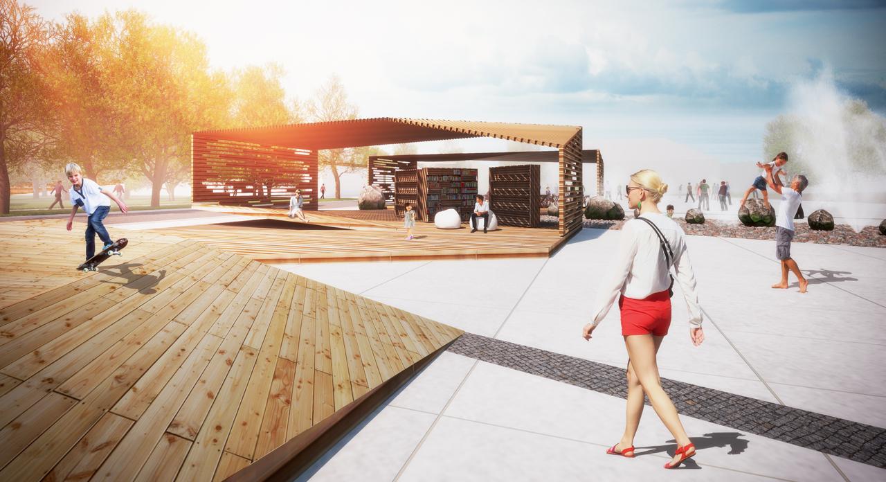 EV100 Kärdla keskväljaku ja linnaruumi arhitektuurivõistlus