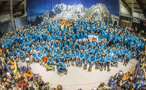 Photo by Stefano Jeantet. Because we are starting backwards, then here is the photo of almost all the 446 finishers of Tor des Geants 2016.