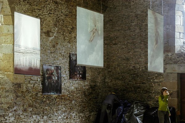 Exhibition view, Ancien Preche, Pontorson, France, 2004