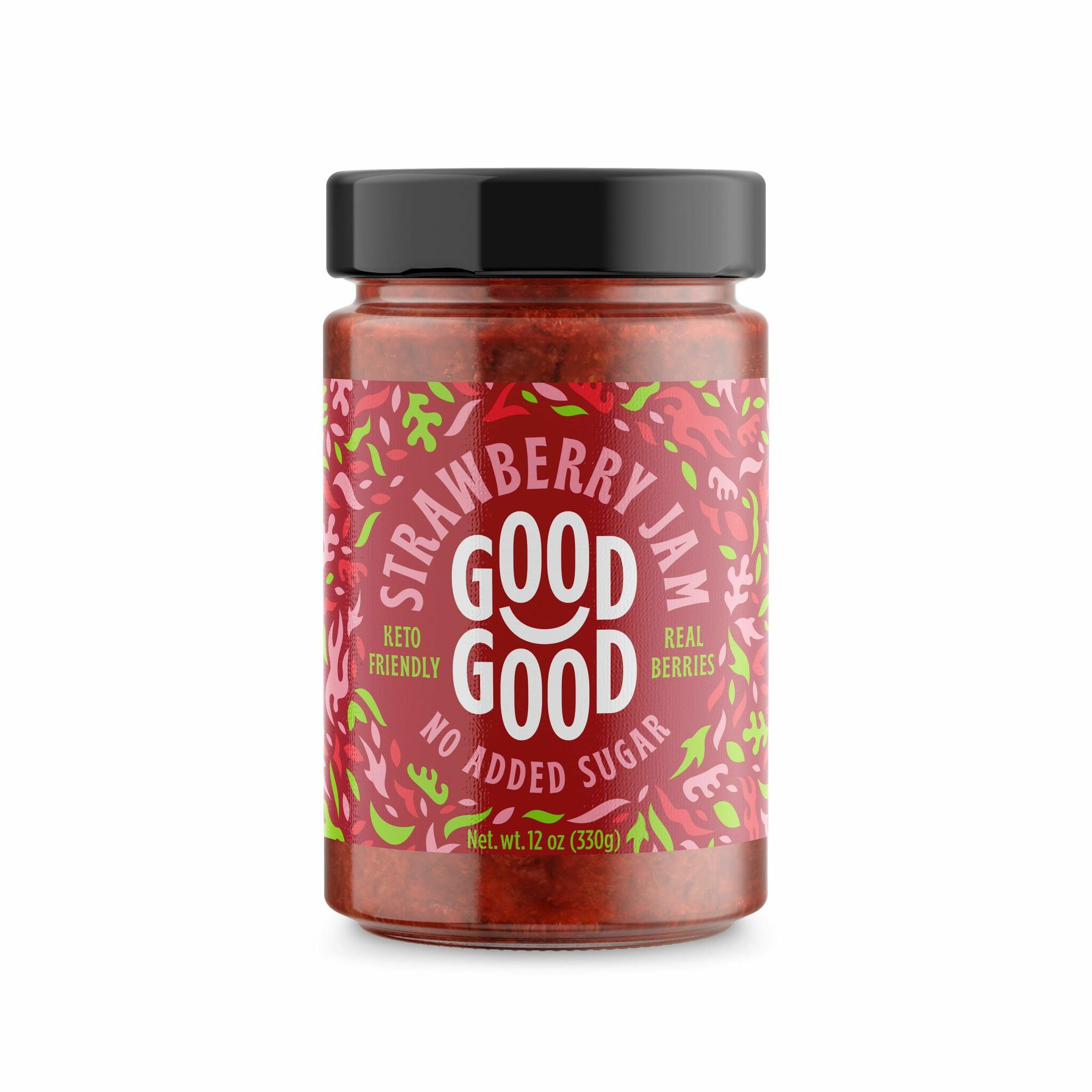 Good Good maasikamoos steviaga 330g