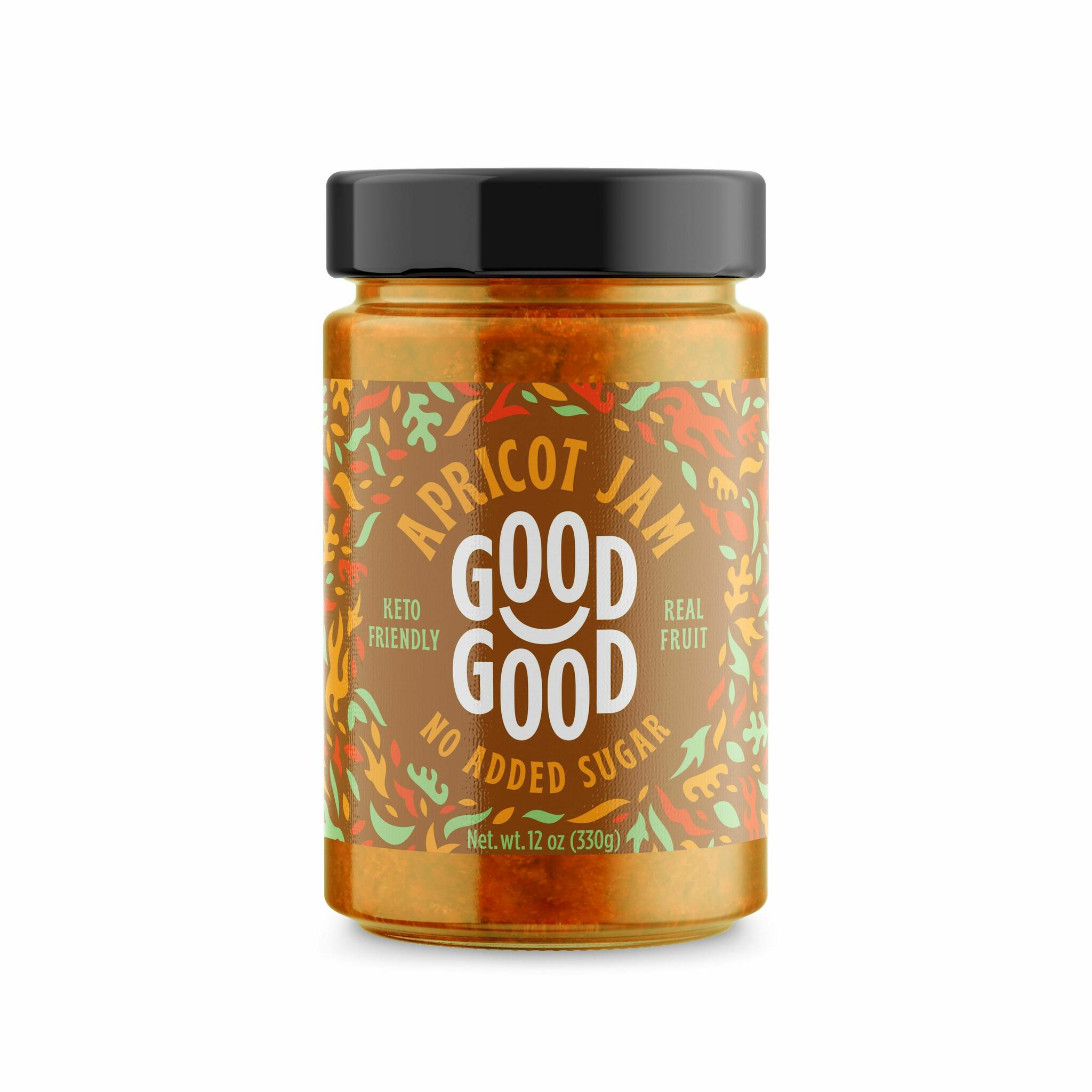 Good Good aprikoosimoos steviaga 330g