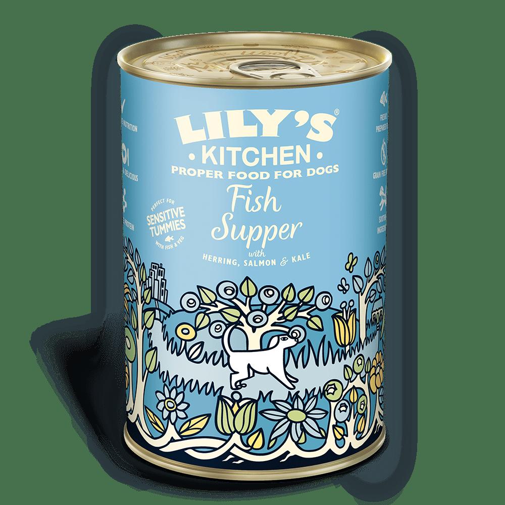 Lily's Kitchen täistoit koertele: kala ja köögiviljadega 400g