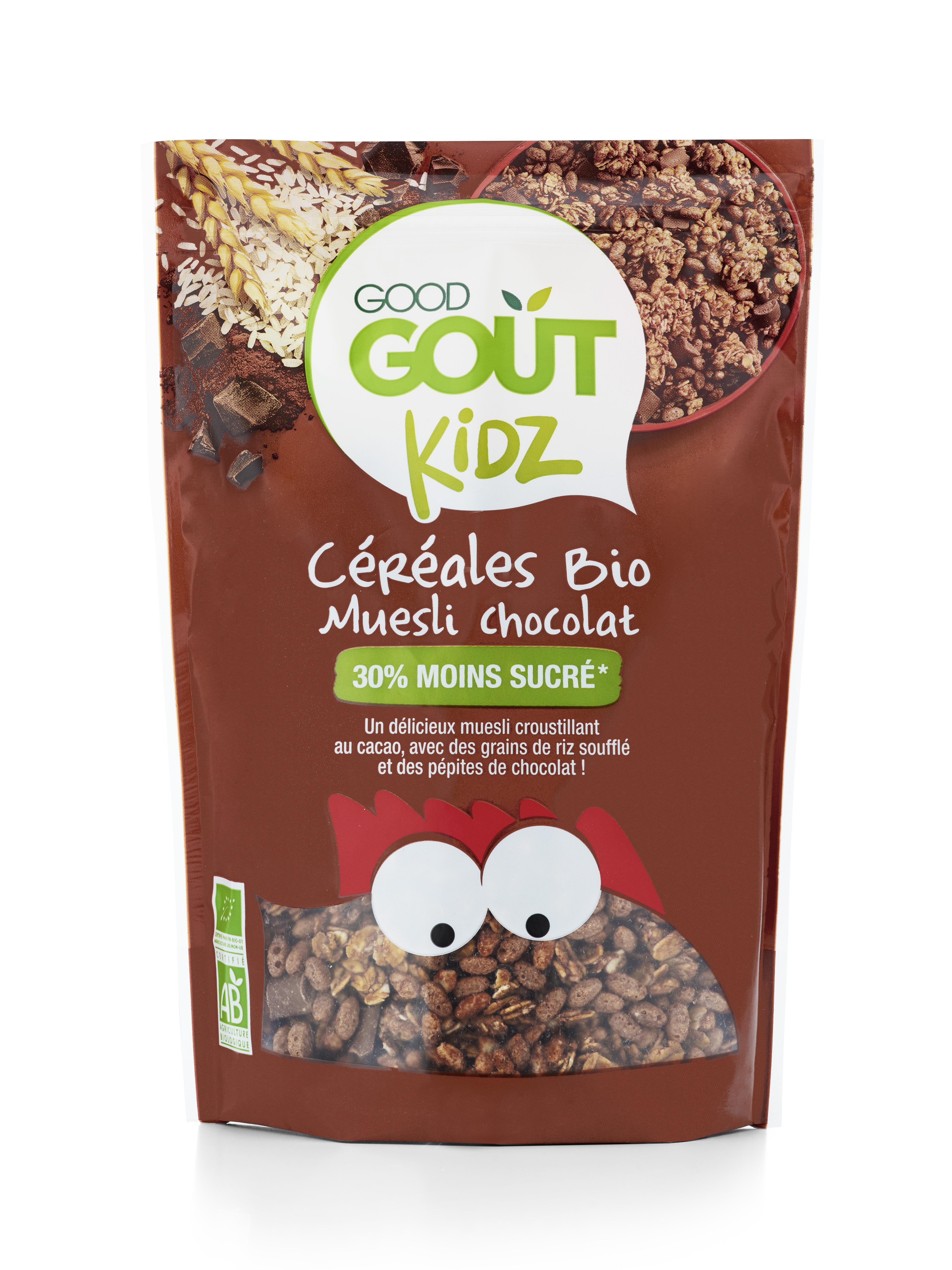 Ökoloogiline tervavilja müsli šokolaaditükkidega 300g.